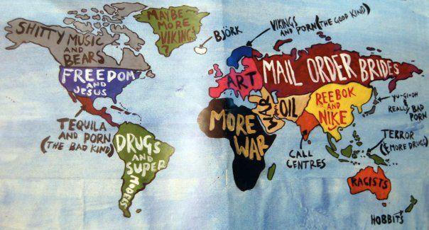 Politically Correct Map of the World for Columbus Dayu2026 ThanX for ...