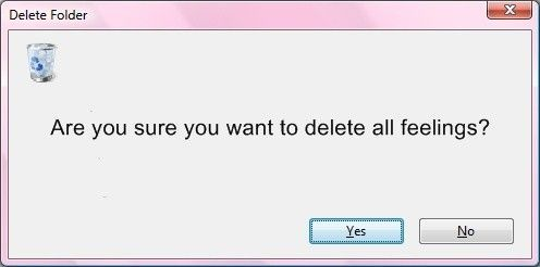delete feelings