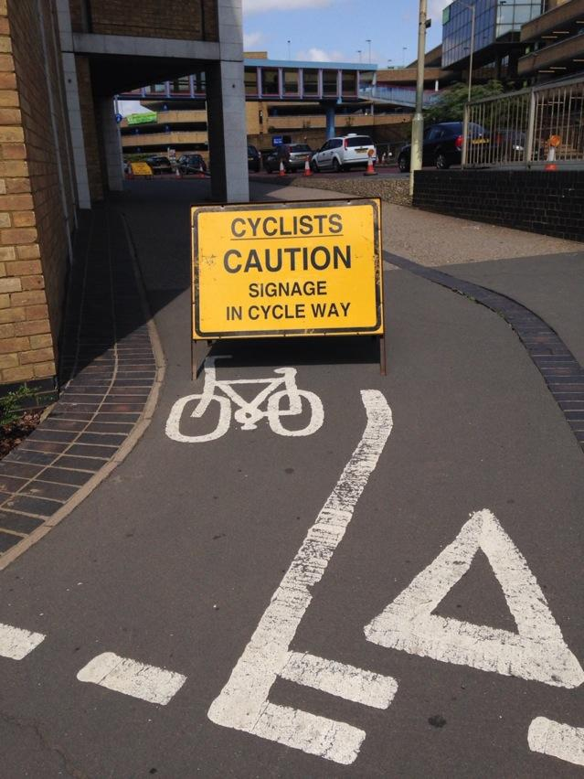 signage in cycle way