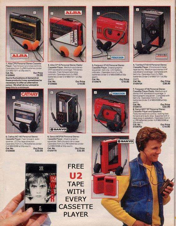 free u2 cassette