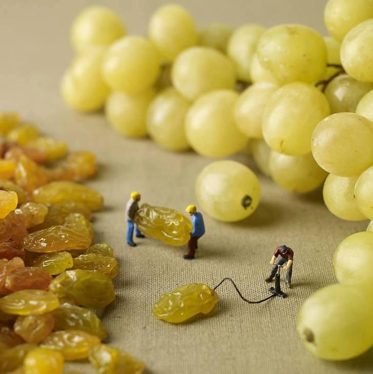 inflated raisins
